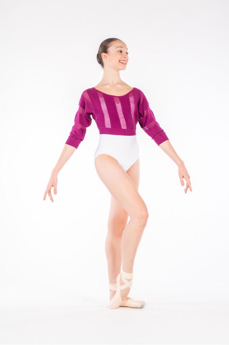 Pull échauffement femme Bloch Z7226 violet - Mademoiselle Danse ab5c1e86d73