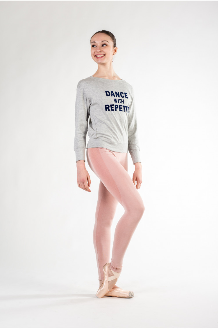38838c9ecd Sweat Repetto S0442 gris chiné. Reference: REP S0442C. Dance warm-up ...