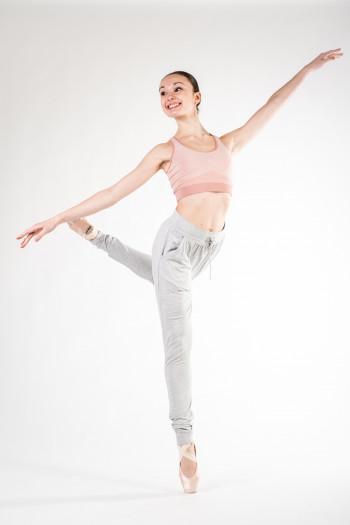 Pantalon sarouel Repetto demme gris chiné W0585C