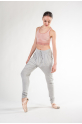 Pantalon sarouel Repetto femme gris chiné W0585C