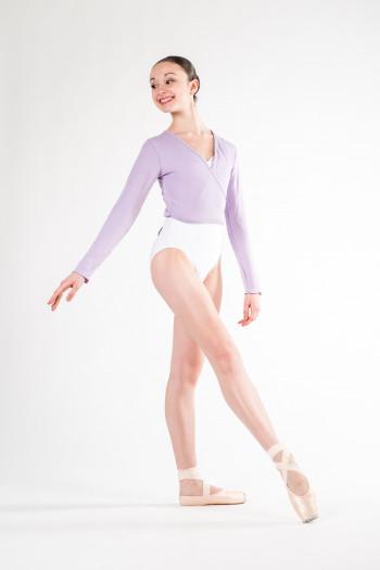 Wear Moi Carmen lilac women wrap over top