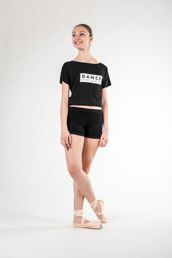 Temps danse Agile short black t-shirt