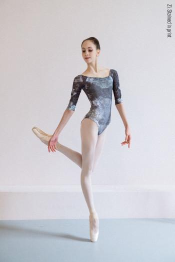 Printed leotard semi-long sleeves Zi Dancewear