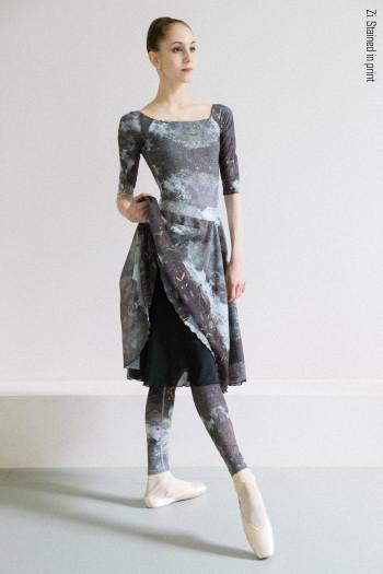 Rehearsal double frill printed skirt Zi Dancewear