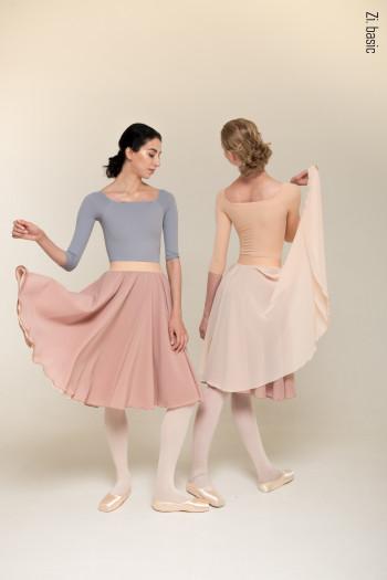 Reherasal skirt double frill pink Zi Dancewear