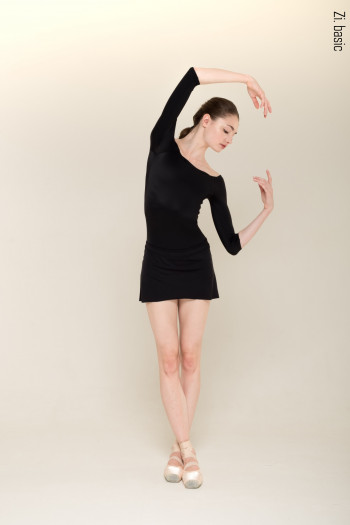 The Skirt + Shorts Stretch (black) Zi Dancewear