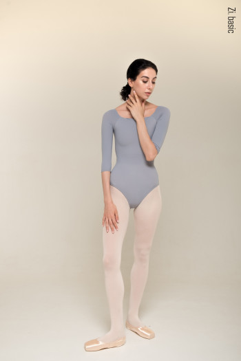 2 Sleeves leotard (grey)
