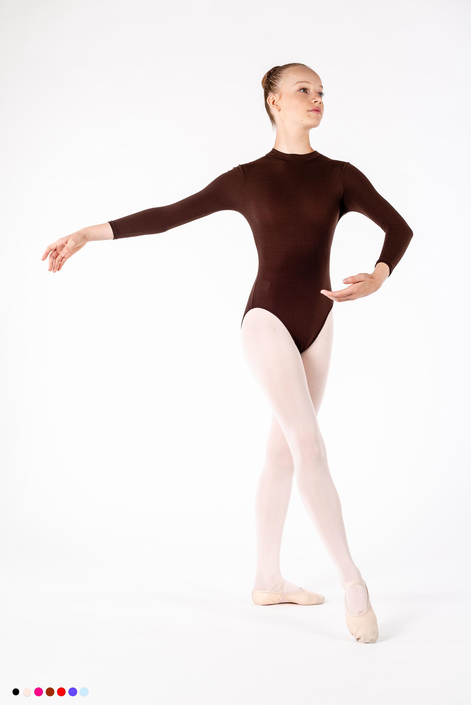 c30e2877c Intermezzo Long Sleeve Leotard 3669 - Mademoiselle Danse