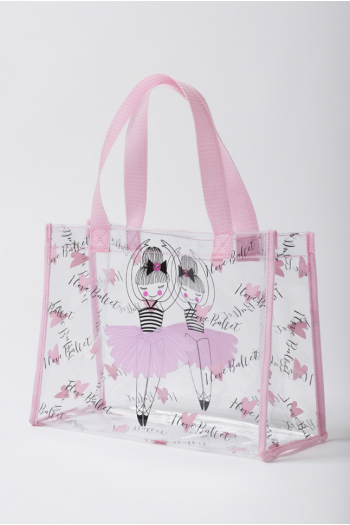 Sac shopper transparent I Love Ballet