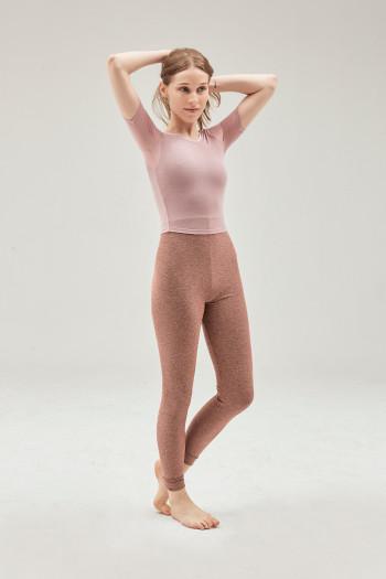 Tee Shirt SMK manches 3/4 vintage pink