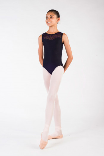 Wear Moi Majesté black/prune leotard