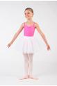 Sheddo white tutu skirt for child red belt