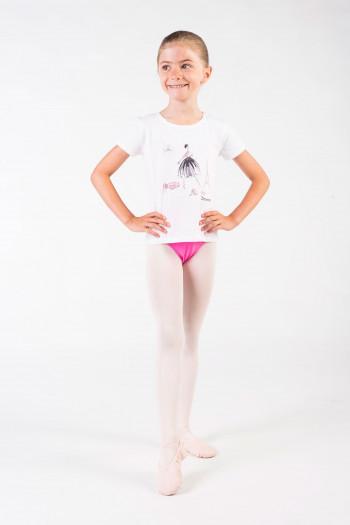 T-Shirt Repetto fille blanc SE437