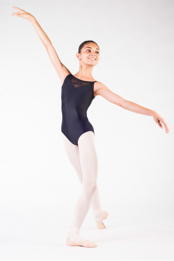 Ballet leotard Rosa Aura black child