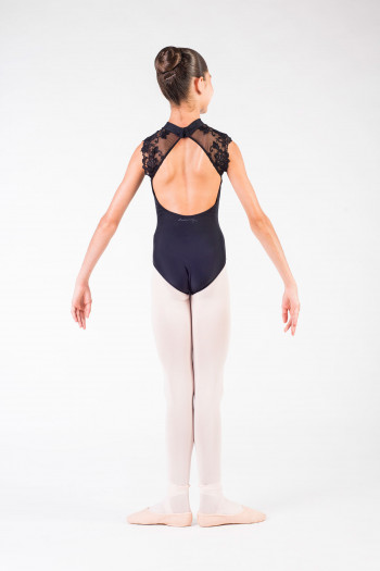 Justaucorps Berenice Ballet Rosa noir enfant