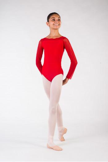 Justaucorps enfant eleonora ballet rosa rouge