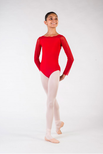Leotard child eleonora ballet rosa red