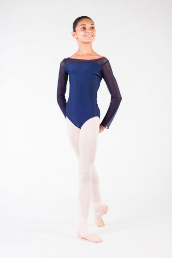 Justaucorps enfant eleonora ballet rosa marine