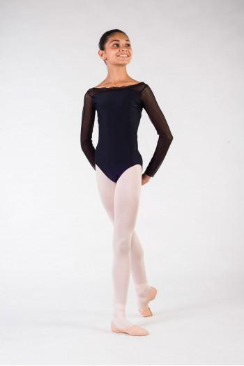 Justaucorps enfant eleonora ballet rosa noir