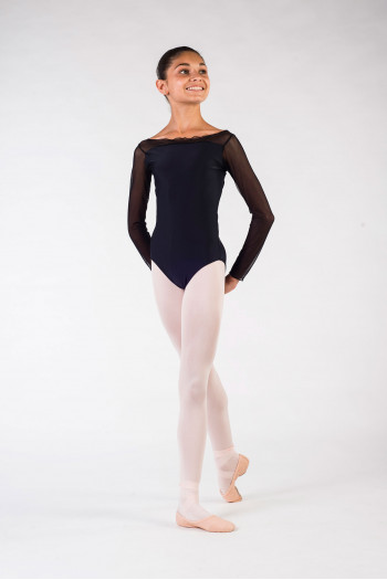 Leotard child eleonora ballet rosa black