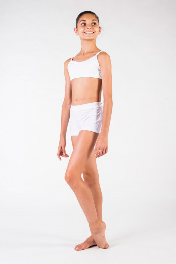 Short enfant Capezio TB113C white