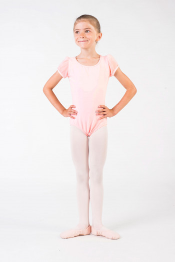 Justaucorps enfant Capezio manches tulle 11311C light pink