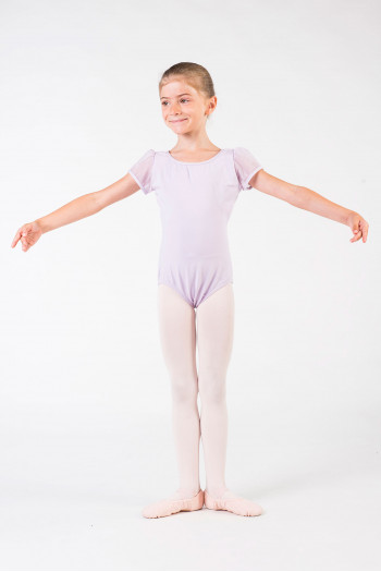 Leotard child Capezio sleeves tulle 11311C lavender