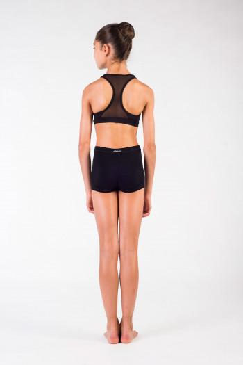 Bloch swimmer back bra in black fishnet