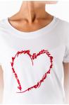 T-shirt coton Heart blanc