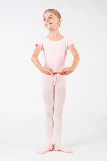 Capezio short sleeves pink leotard
