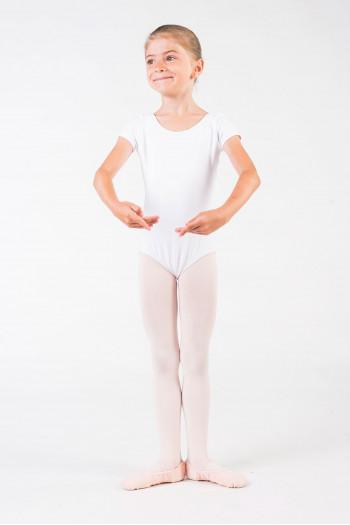 Justaucorps Capezio manches courtes enfant blanc