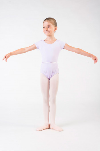 Capezio short sleeves black leotard