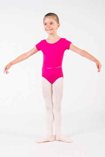 Capezio short sleeves mulberry leotard