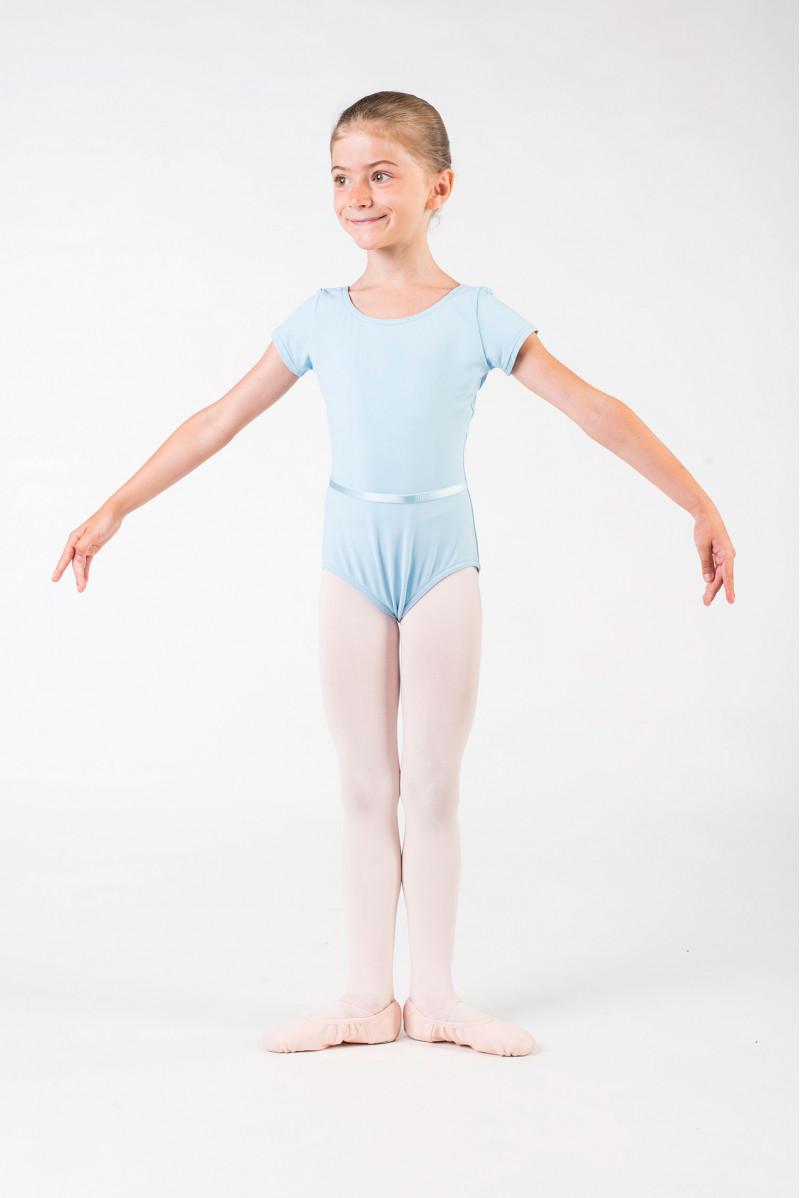 Justaucorps Capezio manches courtes enfant bleu