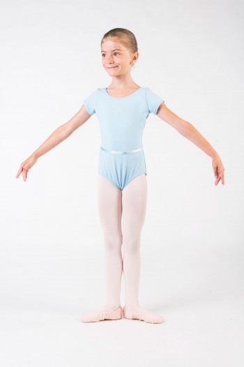 Capezio short sleeves blue leotard