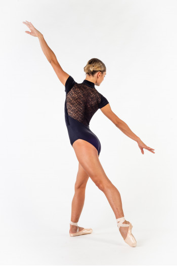 Leotard Ballet Rosa Amandine black collection Ciaravola