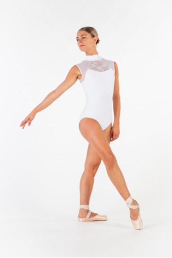 Leotard Ballet Rosa Anita white
