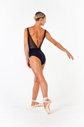Justaucorps Ballet Rosa Antonia noir/gris