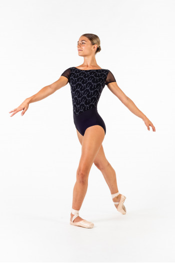 Justaucorps Ballet Rosa Coralie noir/gris