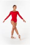 Justaucorps manches longues Ballet Rosa Eleonora rouge