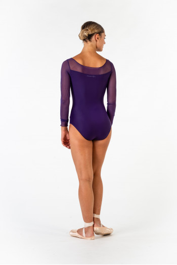 Ballet Rosa long sleeve leotard Eleonora prunus