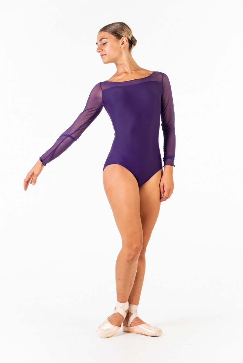 Justaucorps manches longues Ballet Rosa Eleonora prunus