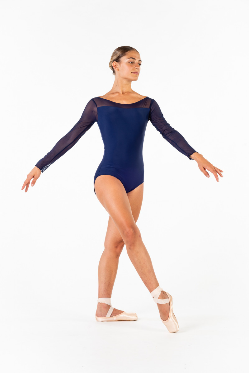 Justaucorps manches longues Ballet Rosa Eleonora marine
