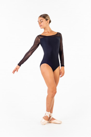 Ballet Rosa long sleeve leotard Eleonora black