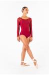 Justaucorps manches longues Ballet Rosa Eleonora bordeaux