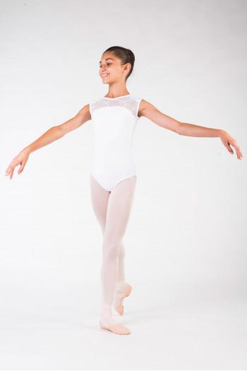 Leotard Ballet Rosa Rita white child