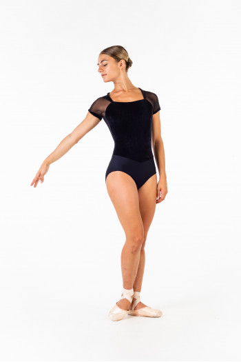 Ballet Rosa Vamp black women leotard