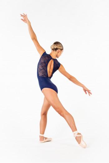 Justaucorps dentelle Ballet Rosa Rita marine