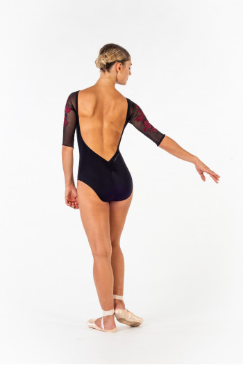 Justaucorps Ballet Rosa Gigi noir/bordeaux collection Royal