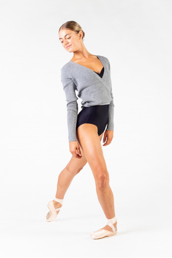 Capezio 11381 wrap over top grey